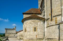 St Andrew's church, Sauveterre-de-Bearn. Stock Photos