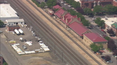 AERIAL United States-Railroad And Station - stock footage