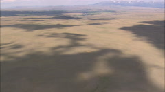 AERIAL United States-Flight Over Cloud Shadows To Yellowstone River Stock Footage