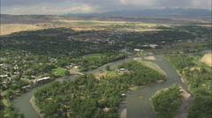 AERIAL United States-Livingston Stock Footage