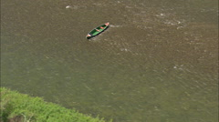 AERIAL United States-Boats On The Madison River Stock Footage