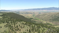 AERIAL United States-Approaching Ruby River Valley - stock footage