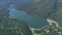 Stock Video Footage of AERIAL United States-Hyalite Reservoir