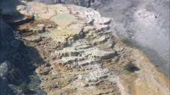 AERIAL United States-Mammoth Springs Close - stock footage