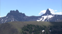 AERIAL United States-Pilot Peak In North Absaroka Wilderness Stock Footage