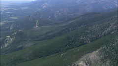 AERIAL United States-North Edge Of Custer National Forest Stock Footage