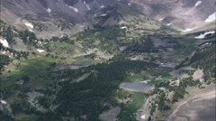 AERIAL United States-Above Valleys In Custer National Forest - stock footage