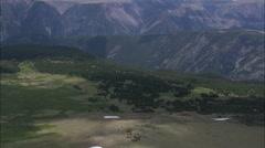 AERIAL United States-Absaroka Beartooth Wilderness Stock Footage