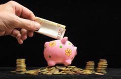 Pink Pig Piggy Bank Stock Photos