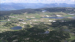 AERIAL United States-Plateau Above Clarks Fork Yellowstone River - stock footage