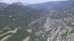 AERIAL United States-Clarks Fork Yellowstone River Stock Footage