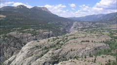 Stock Video Footage of AERIAL United States-Clarks Fork Canyon