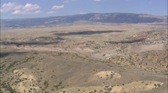 AERIAL United States-Approaching Pryor Mountains Across Big Horn Basin Stock Footage