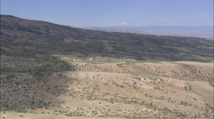 AERIAL United States-West Side Of Pryor Mountains Stock Footage