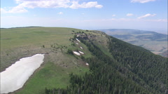 AERIAL United States-East Side Of Pryor Mountains Stock Footage