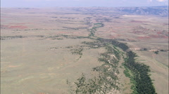 AERIAL United States-Approaching Bighorn Canyon National Re. Area Stock Footage