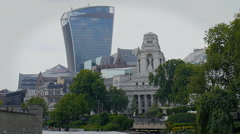 View of the City of London, Walkie Talkie Building Stock Footage
