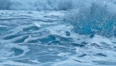 Wild to Calm Fresh Foam Splash Turquoise Sea Water Waves - 29,97FPS NTSC Stock Footage