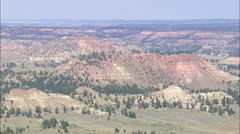 AERIAL United States-Red Rocks In Crow Indian Reservation - stock footage