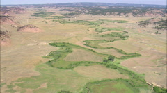 AERIAL United States-Across Rosebud Creek At Muddy Stock Footage
