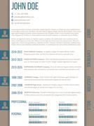 Cv resume template with side categories - stock illustration