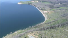 AERIAL United States-Yellowstone Lake From The East Stock Footage