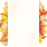 Autumn frame with fall leaf. EPS 10 Stock Illustration