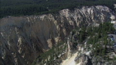AERIAL United States-Lookout Points Over Grand Canyon Of The Yellowstone Stock Footage