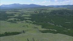 AERIAL United States-Blacktail Plateau - stock footage