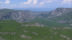AERIAL United States-Landscape Around Three Brothers Mountains Stock Footage