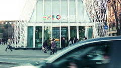 Expo 2015 Gate entrance Stock Footage