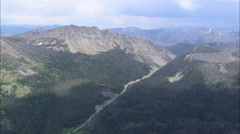 AERIAL United States-Sylvan Pass From The West Stock Footage