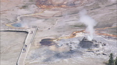 AERIAL United States-Grotto Geyser - stock footage