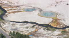 AERIAL United States-Black Sand Basin Stock Footage