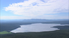 AERIAL United States-Reflection Is Shoshone Lake Stock Footage