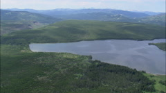 AERIAL United States-Heart Lake And Rustic Geyser - stock footage