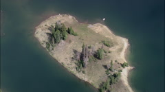 AERIAL United States-Crater Lake - stock footage