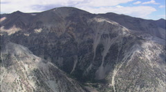 AERIAL United States-South End Of The Absaroka Range Stock Footage