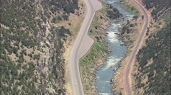 AERIAL United States-Horn Canyon North End Stock Footage