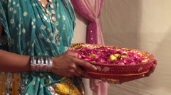 Flower basket for a marriage - stock footage