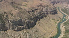 AERIAL United States-Big Horn Canyon Stock Footage