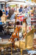 Sunday flea market. - stock photo