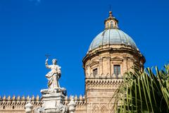 Palermo Cathedral - stock photo