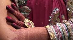 Jewels of an Indian marriage Stock Footage