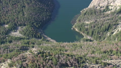 AERIAL United States-Ross Lake - stock footage