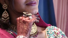 Celebration and jewels of an Indian marriage Stock Footage
