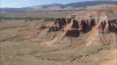 AERIAL United States-Red Rocky Crags And Valleys Stock Footage