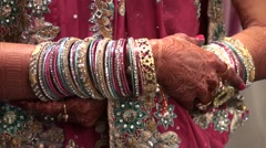 Jewels for indian marriage Stock Footage