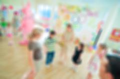 Kids activity animation blur background Stock Photos