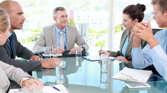 Business people working during metting Stock Footage